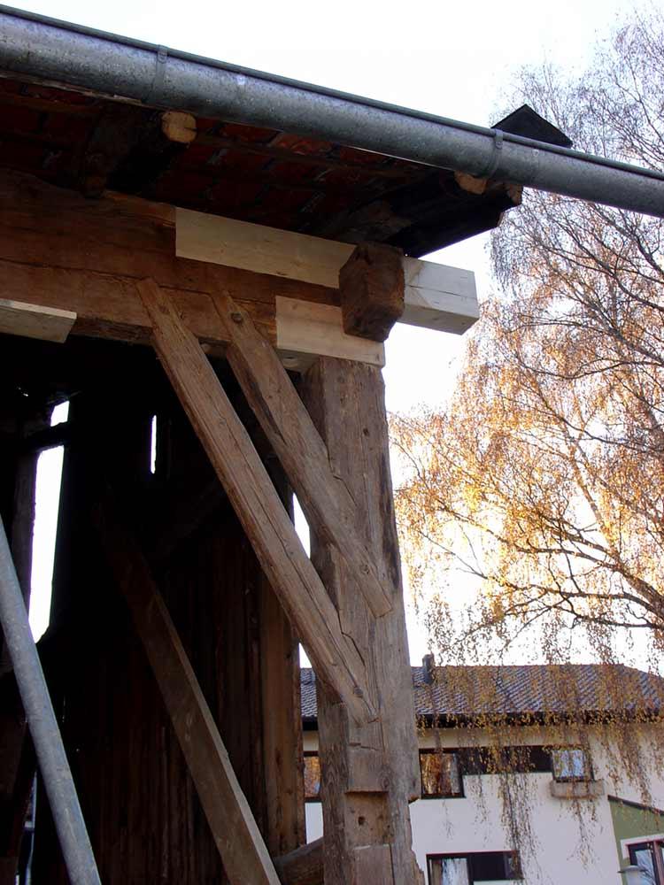 Dachanschluss Wagnerhaus