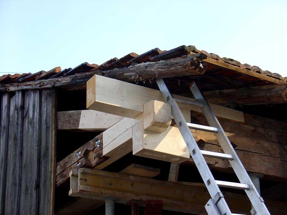 Dachkonstruktion Wagnerhaus
