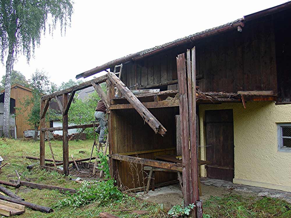 Rückbau Scheune Wagnerhaus