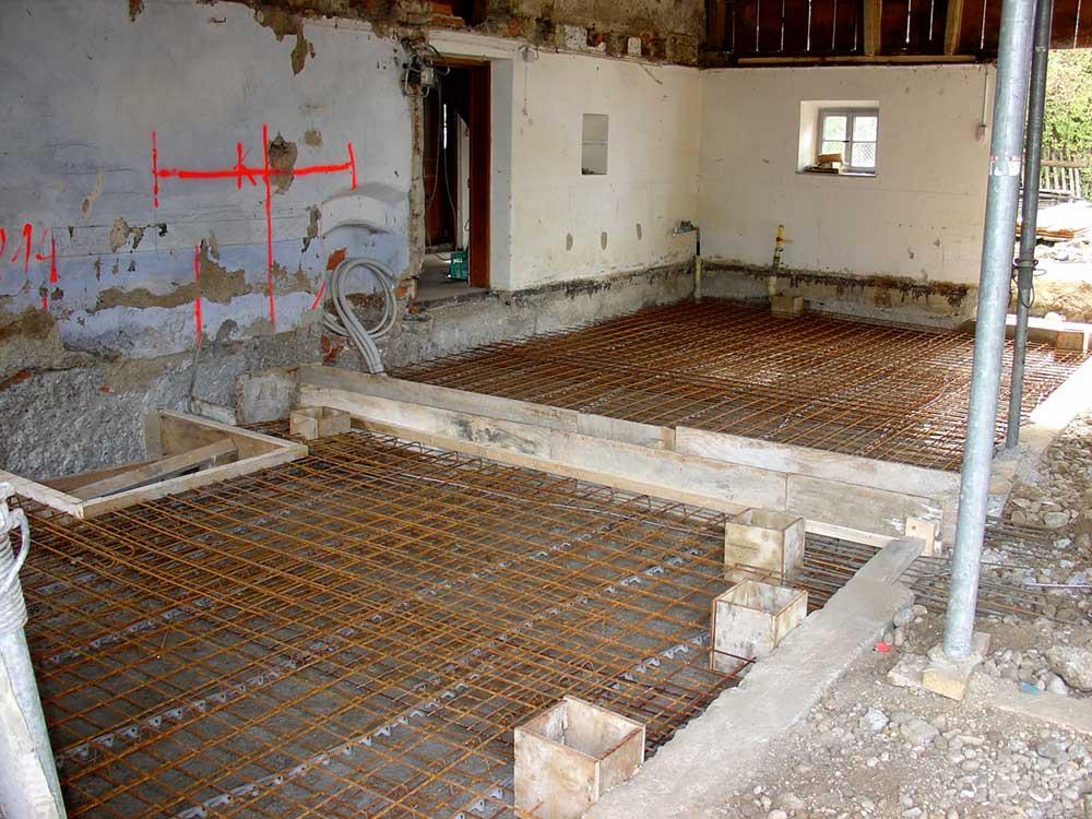 Neuaufbau Tenne Wagnerhaus