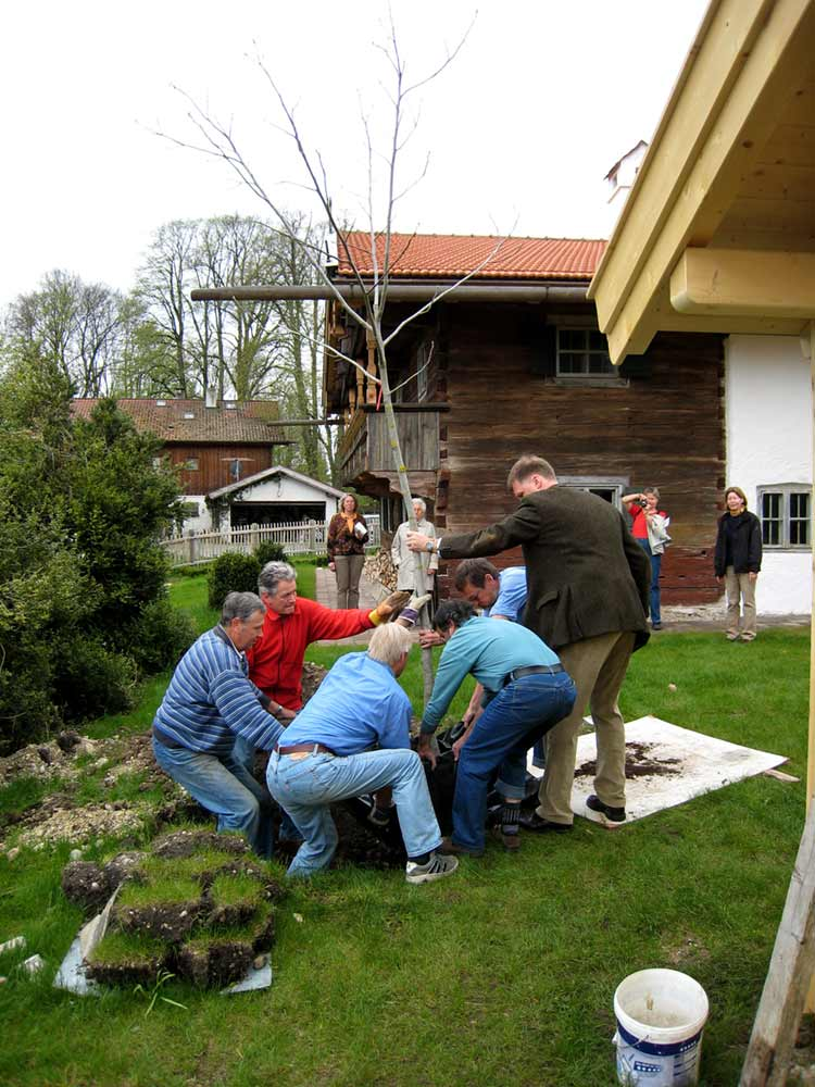 Wagnerhaus Baumpflanzung